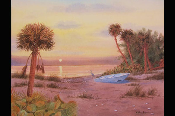 Glynn Pink Sunset, Sea Grape Gallery