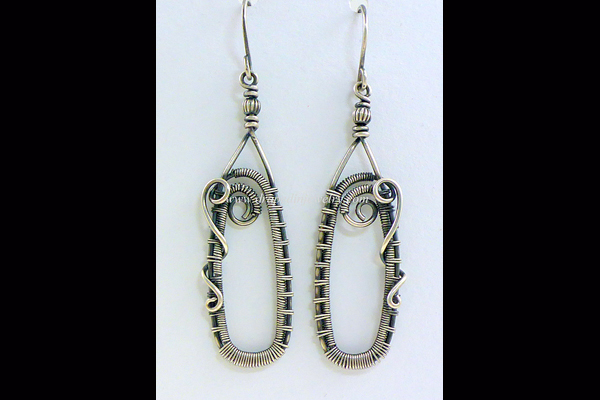VanTassell Antique Sterling woven earring, Sea Grape Gallery