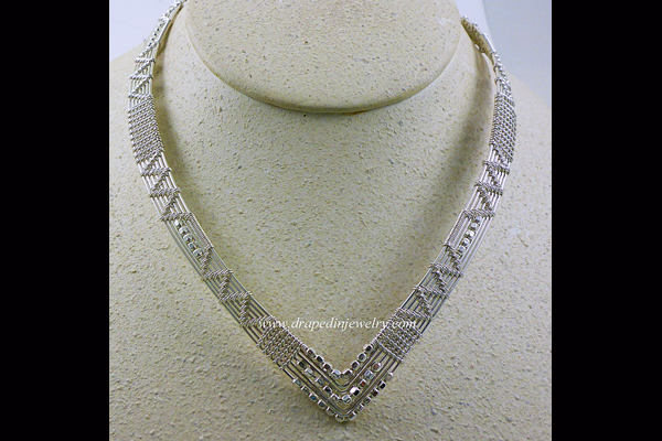 VanTassell Silver Collar Necklace, Sea Grape Gallery