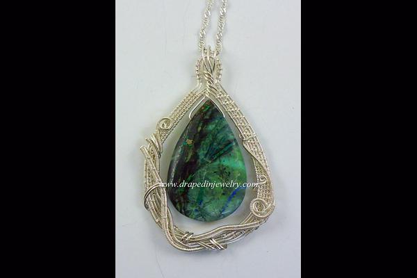 VanTassell lightening azurite necklace, Sea Grape Gallery