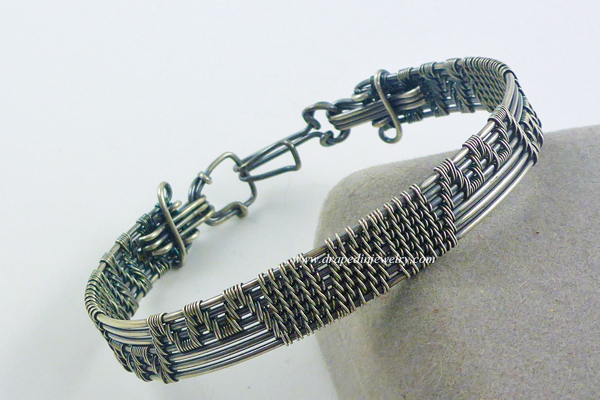 VanTassell silver woven bracelet, Sea Grape Galelry