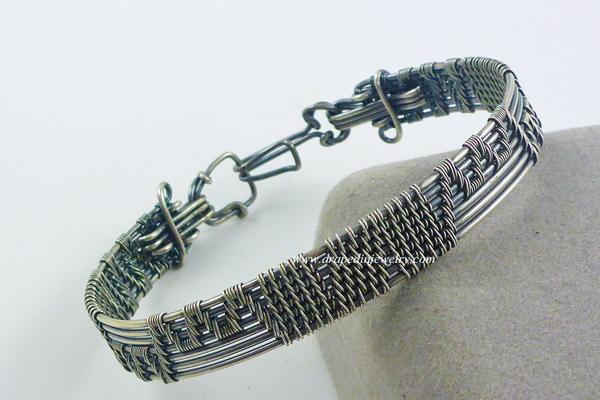 VanTassell silver woven bracelet, Sea Grape Galelry