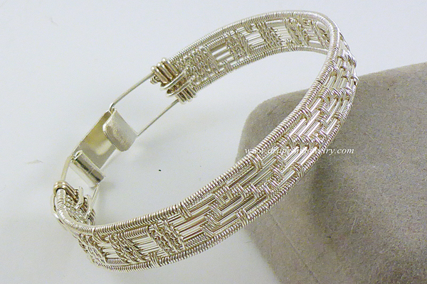 VanTassell silver woven bracelet, Sea Grape Gallery
