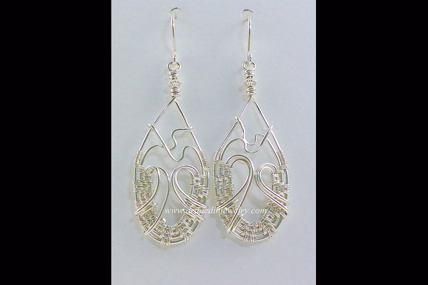 VanTassell silver woven earrings, Sea Grape Gallery