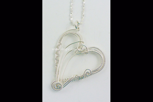 VanTassell silver woven heart necklace, Sea Grape Gallery