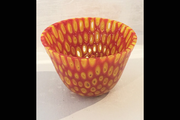 Farr Orange Murrine Candle Holder, Sea Grape Gallery