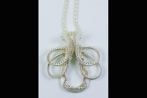 VanTassell Wire Wrapped Clover Pendant, Sea Grape Gallery