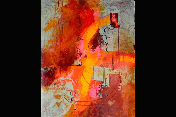 Bev Yankwitt, In the Pink, Sesa Grape Gallery (22x30)
