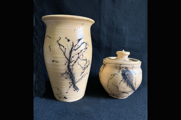 Jones Horsehair & Feathers Pottery Vessels, Sea Grape Gallery