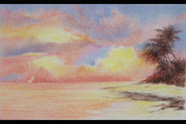 Tuttle Coastal Sunset, Sea Grape Gallery, 10 x 13