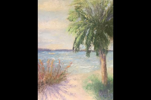 rasny Secluded Cove 13x16 oil, Sea Grape Gallery
