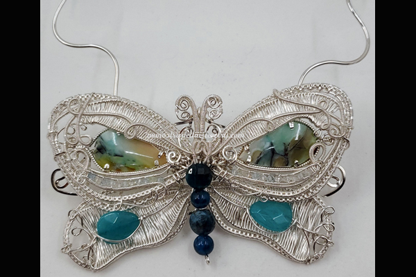 Nancy VanTassell, Fly, Butterfly, Fly Necklace, Sea Grape Gallery