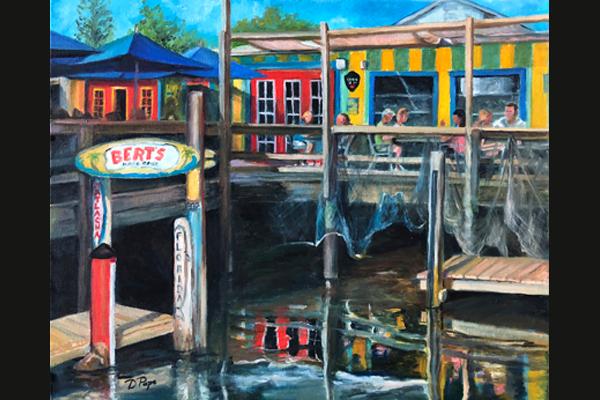 Donna Pape, Bert's Bar, Sea Grape Gallery