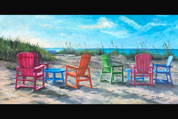 Donna Pape, Boca Grande Beach, Sea Grape Gallery