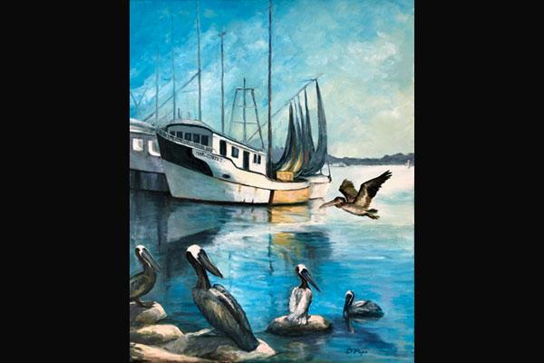 Donna Pape, Shrimp Boats, Sea Grape Gallery
