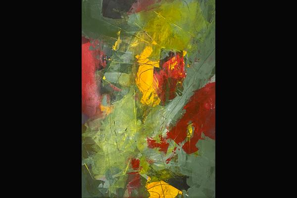 Bev Yankwitt, Garden Oasis, 15x22, Acrylic, Sea Grape Gallery